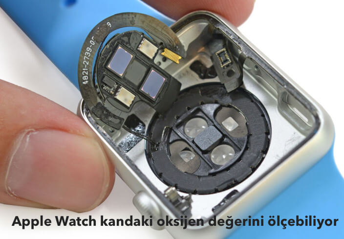 Apple watch kandaki oksijen