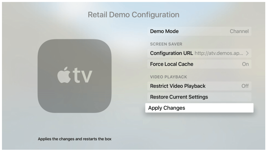 Apple TV Demo modu