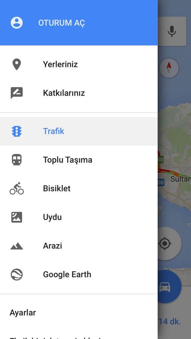 Google Maps Trafik,Canlı Trafik Google Maps