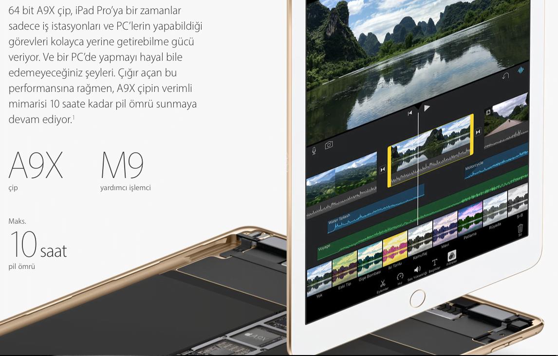 iPad Pro A9X işlemci