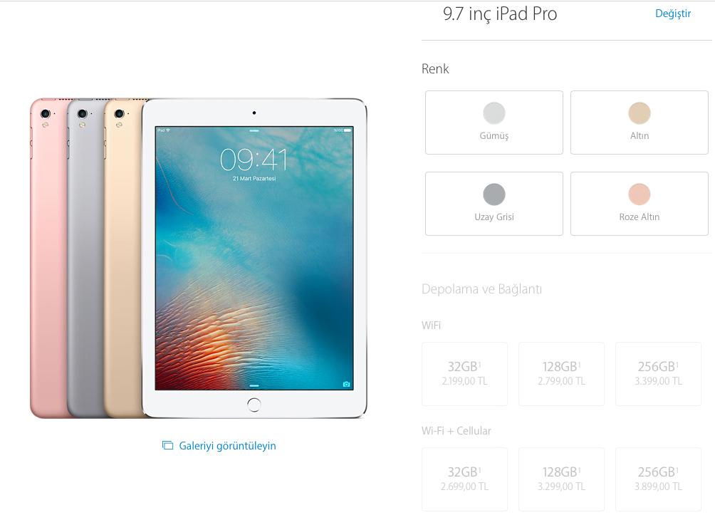 iPad Pro fiyat