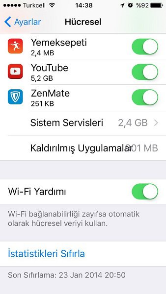 iPhone wifi yardımı
