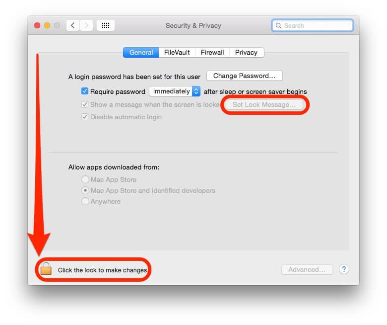 Mac Ekran Koruyucu, Kilit Ekranına Mesaj Bırakmak, Mac'im kaybolmasın