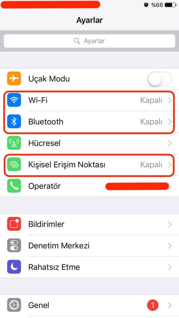iPhone Wi-Fi, Bluetooth