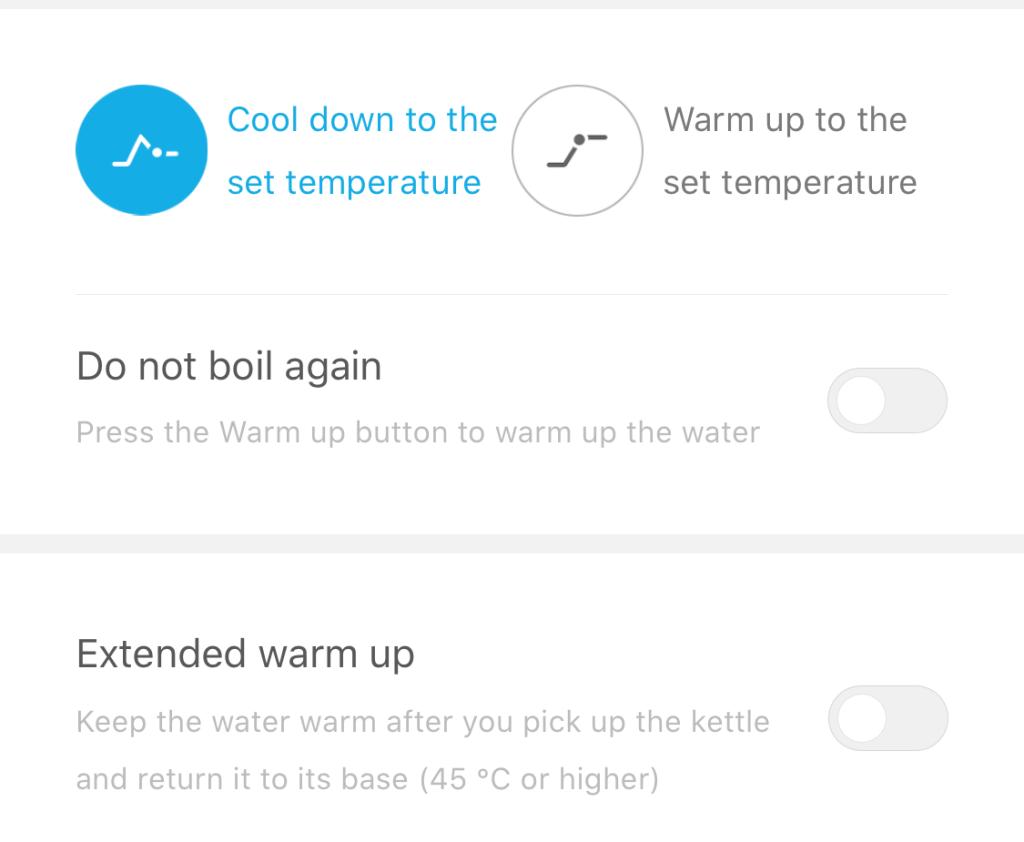 bluetooth kettle ayarları