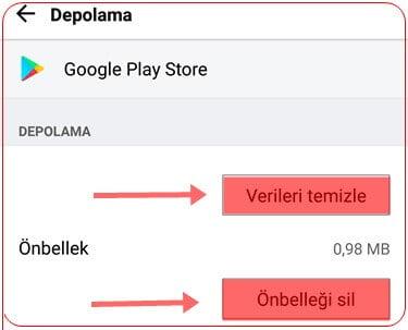 google-play-store-onbellek-temizleme