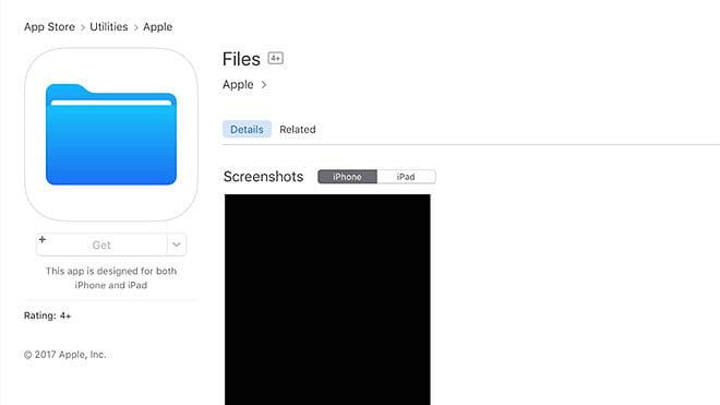 iOS 11 Dosyalar uygulaması