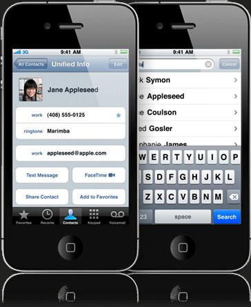 iphone kişileri yedekleme