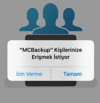 iPhone Kişileri Maile Yedekleme