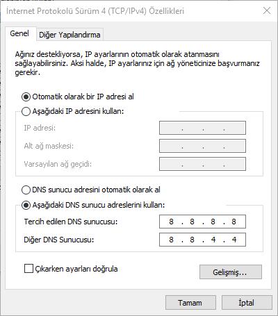 windows-10-ip-degistirme